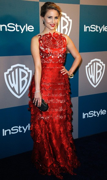 Dianna Agron at the InStyle/Warner Bros party