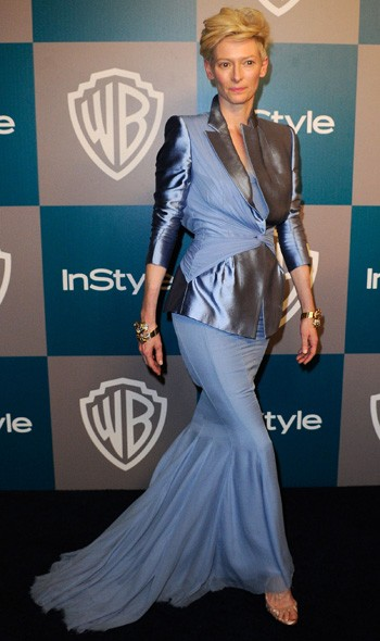 Tilda Swinton at the InStyle/Warner Bros party