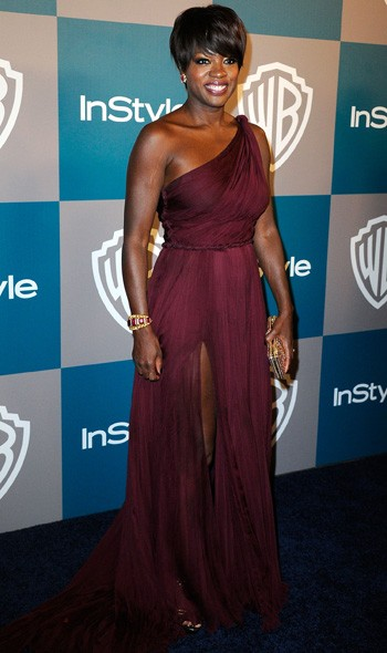 Viola Davis at the InStyle/Warner Bros party