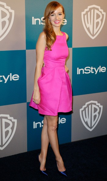 Ahna O'Reilly at the InStyle/Warner Bros party