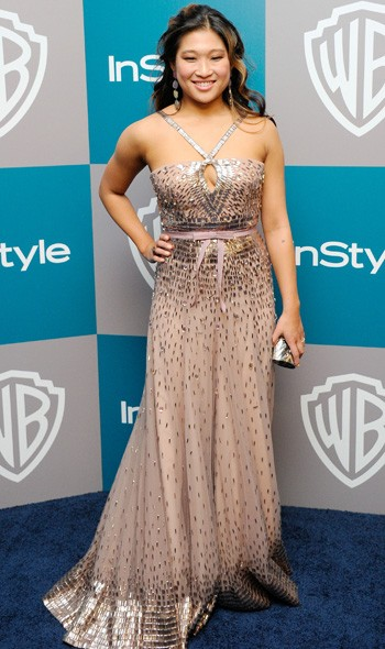 Jenna Ushkowitz at the InStyle/Warner Bros party