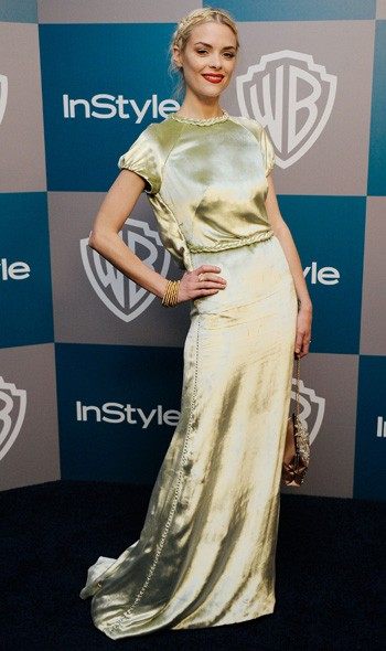 Jaime King at the InStyle/Warner Bros party