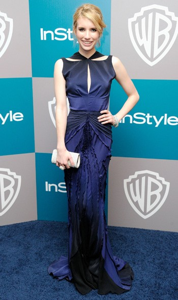 Emma Roberts at the InStyle/Warner Bros party