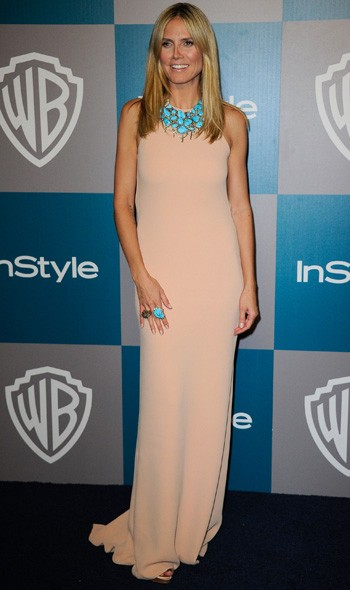 Heidi Klum at the InStyle/Warner Bros party