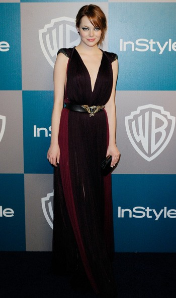 Emma Stone at the InStyle/Warner Bros party