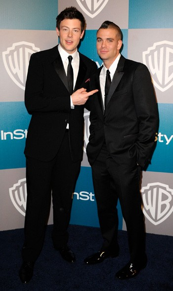 Cory Monteith and Mark Salling at the InStyle/Warner Bros party