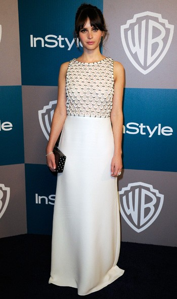 Felicity Jones at the InStyle/Warner Bros party