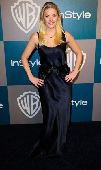 Elisha Cuthbert at the InStyle/Warner Bros party