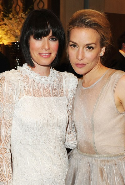 Lena Headey and Piper Perabo at the InStyle/Warner Bros party