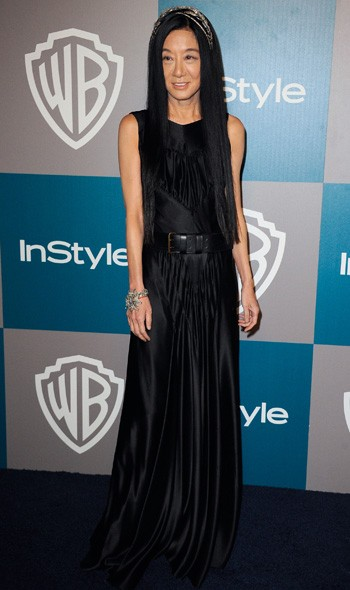 Vera Wang at the InStyle/Warner Bros party