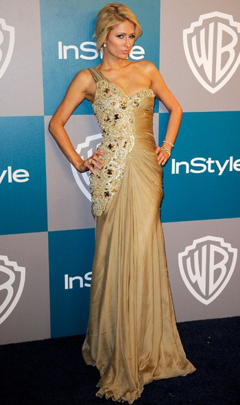 Paris Hilton at the InStyle/Warner Bros party