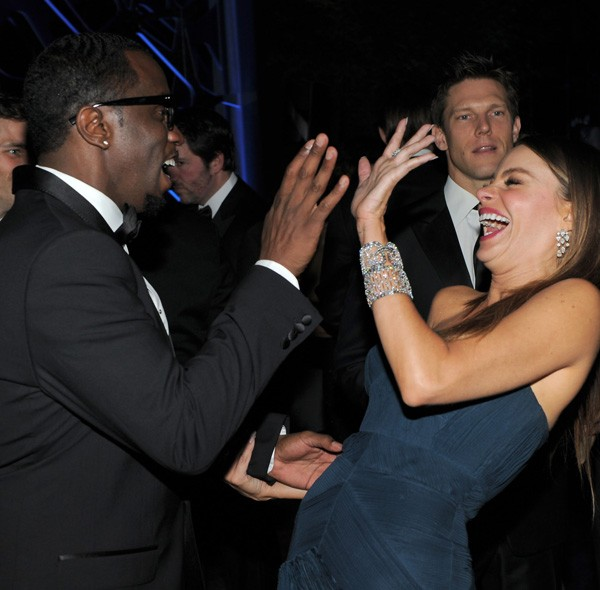 Sean Combs and Sophia Vegara at The Weinstein Company party