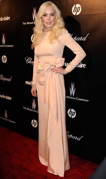 Lindsay Lohan at The Weinstein Company party