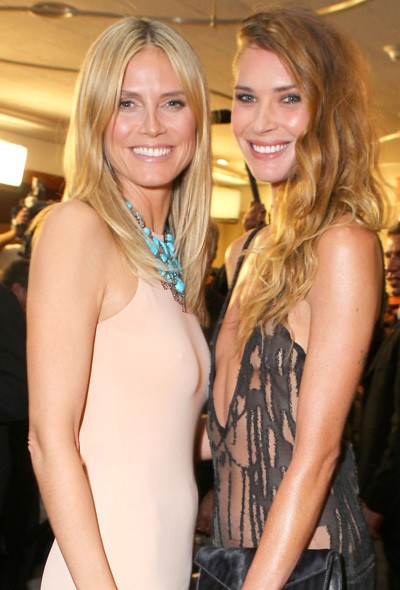 Heidi Klum and Erin Wasson at the InStyle/Warner Bros party