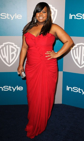 Amber Riley at the InStyle/Warner Bros party