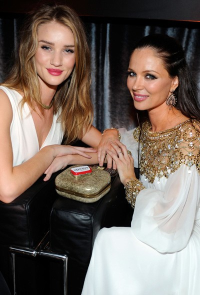 Rosie Huntington-Whiteley and Georgina Chapman at The Weinstein Company party