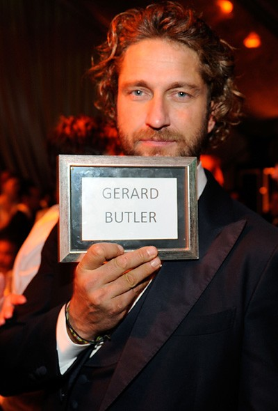 Gerard Butler at The Weinstein Company party