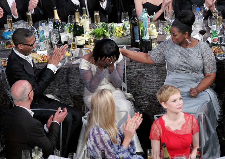 Cicely Tyson (centre) and Octavia Spencer