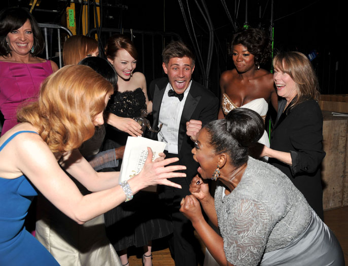 Allison Janney, Jessica Chastain, Emma Stone, Chris Lowell, Octavia Spencer, Viola Davis and Sissy Spacek