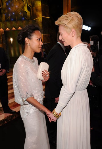 Zoe Saldana and Tilda Swinton