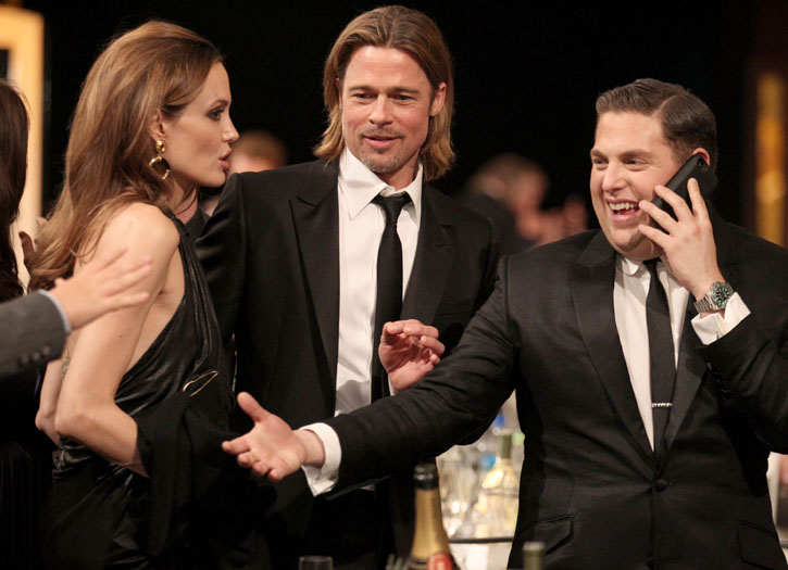 Angelina Jolie, Brad Pitt and Jonah Hill