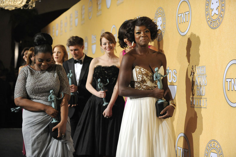 Octavia Spencer, Emma Stone and Viola Davis