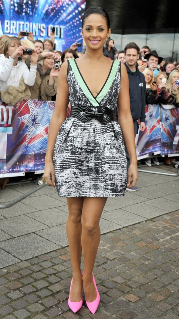 Hot Or Not: Alesha Dixon's Plunging BGT Dress And Bright Pink Heels