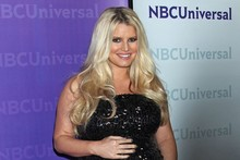 Heavily pregnant Jessica Simpson attends star-studded event in California