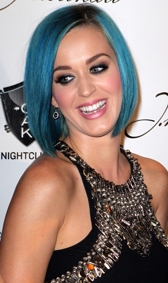 Has Katy Perry coloured her hair to match her mood?
