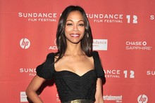 Hot or not: Zoe Saldana's ruched black dress