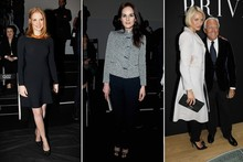 Which Downton Abbey star has been hanging out at couture?
