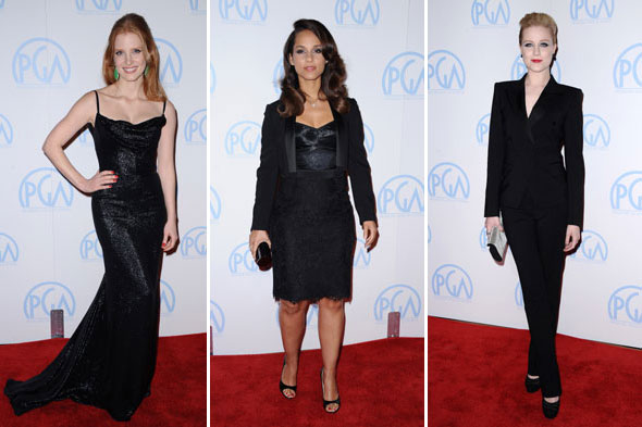 Colour me sombre: Stars opt for black, black, black at Producers Guild Awards