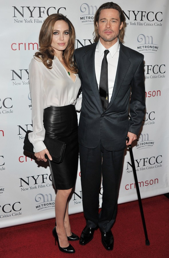 Brad Pitt and Angelina Jolie at the New York Film Critics Circle Awards