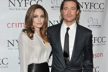 Angelina Jolie upstages Brad Pitt at Critics Circle awards in black leather