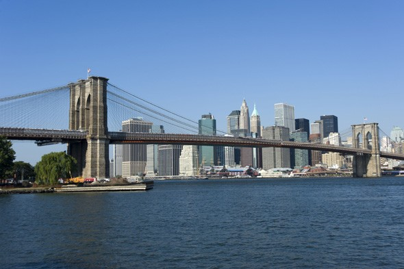 Brooklyn Bridge and the Manhattan skyline
