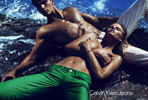 Lara Stone in new Calvin Klein Jeans adverts