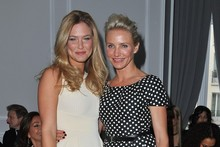 Cameron Diaz and Bar Refaeli are front-row girls at Dior