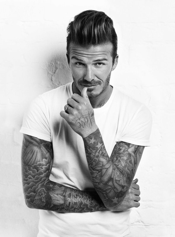 David Beckham in Men's Health March Issue