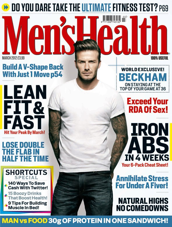 David Beckham stars in 50s-style photo shoot for Men's Health
