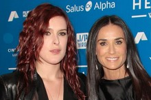 Demi Moore makes red carpet return, with daughter Rumer for support
