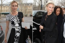 Diane Kruger and Cameron Diaz hit Paris Couture front row