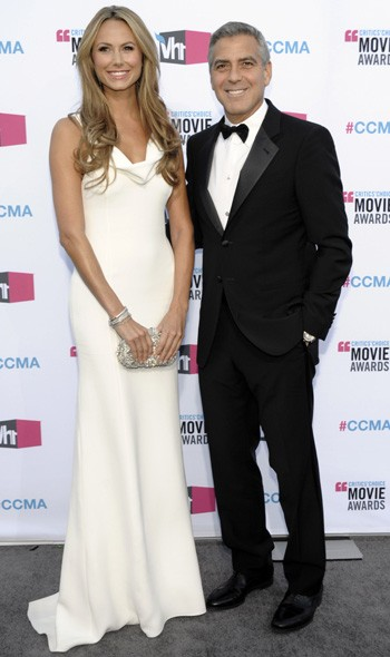 Stacy Keibler and George Clooney in Armani