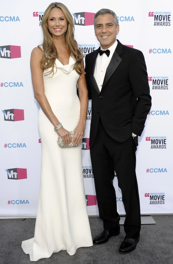 George Clooney and Stacy Keibler at the Critics' Choice Awards