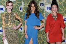 Glee girls get glam for Fox All-Star party