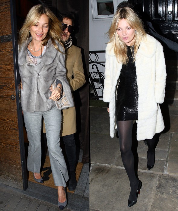 Super Furry (party) Animal: Kate Moss celebrates birthday in furs
