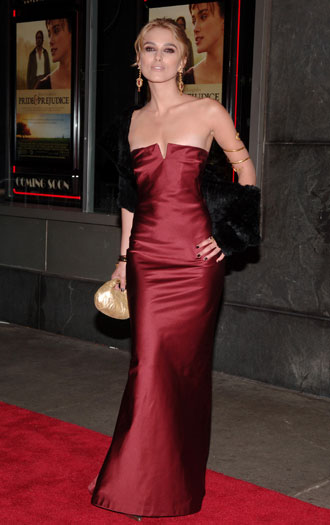 Pride and Prejudice premiere, New York, 2005