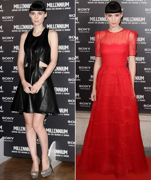 Rooney Mara at The Girl With The Dragon Tattoo premiere in Rome