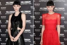 Two show-stopping looks from Rooney Mara as Dragon Tattoo premieres in Rome