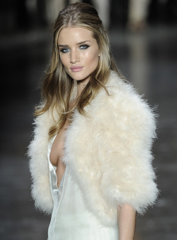 Rosie Huntington-Whiteley on the Animale catwalk in Brazil