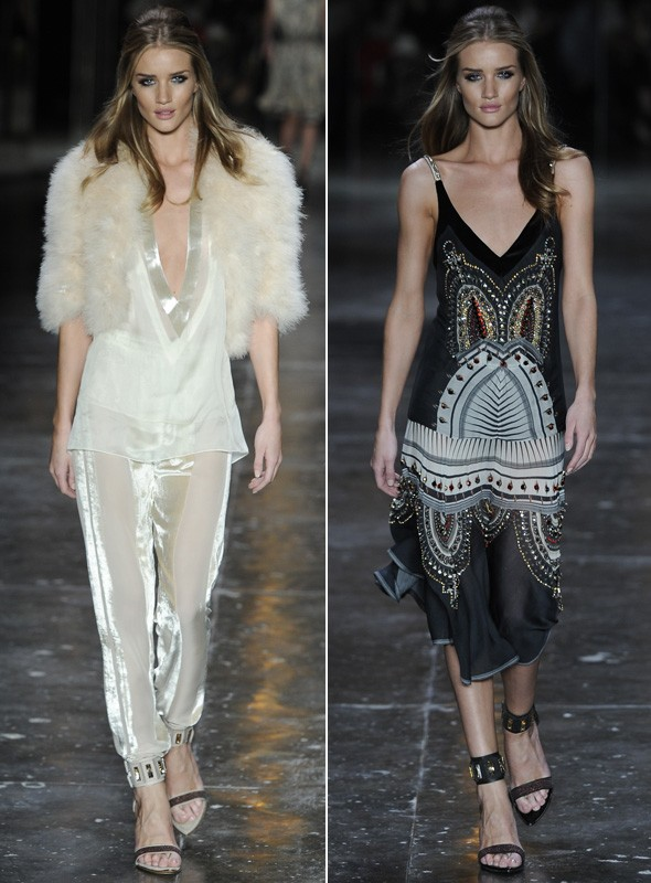 Rosie Huntington-Whiteley walks during the Animale show during Sao Paolo Fashion Week